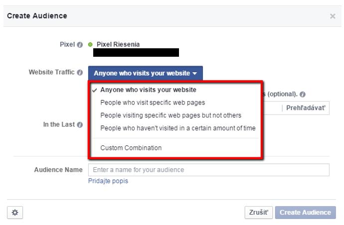 Facebook základný filter