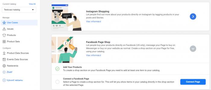 Založenie Facebook Obchodu z Business Manager účtu