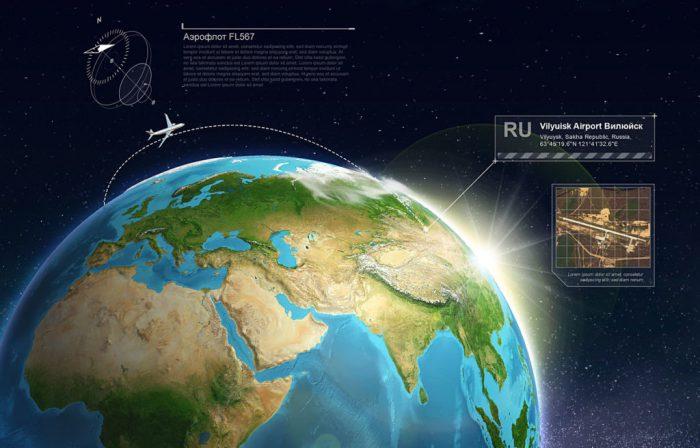 Príklad použitia Atlasu – 3D Zem