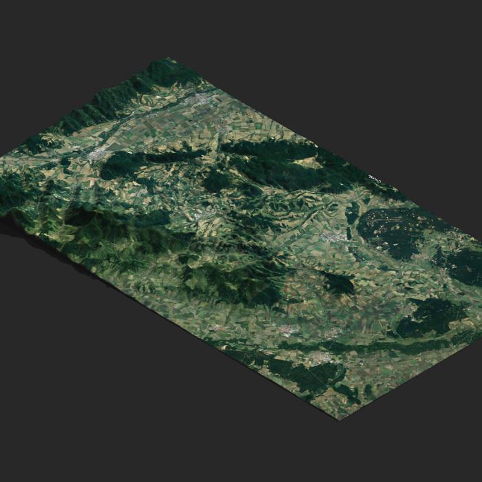 Vygenerovaná 3D mapa Kopaníc