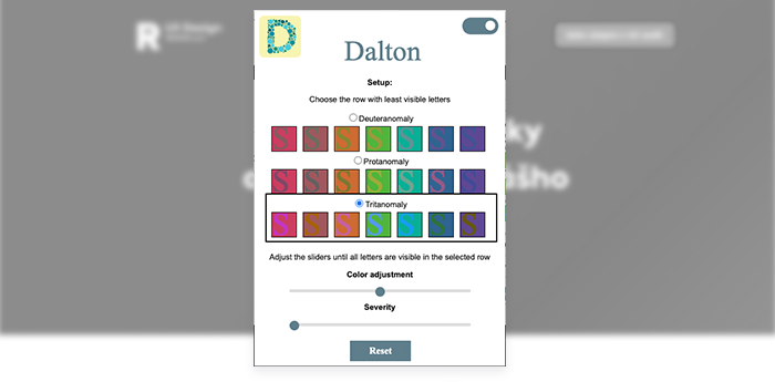 Colorblind - dalton for chrome