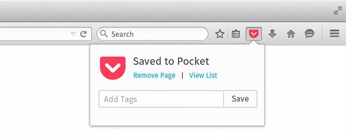 Save to pocket