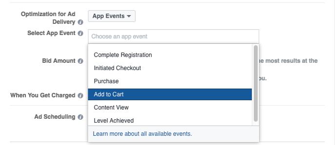 Facebook optimalizácia pre aplikácie