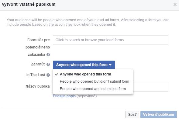 Facebook lead publikum