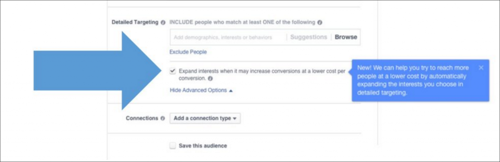 Facebook rozšírenie publika