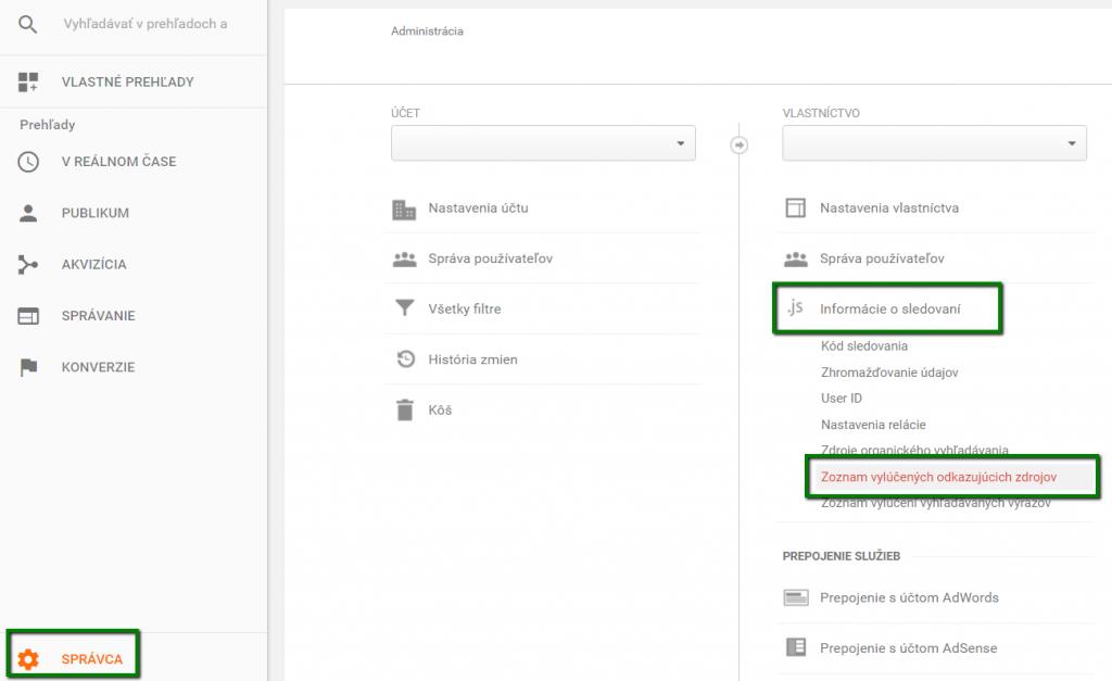 Cesta v Google Analytics