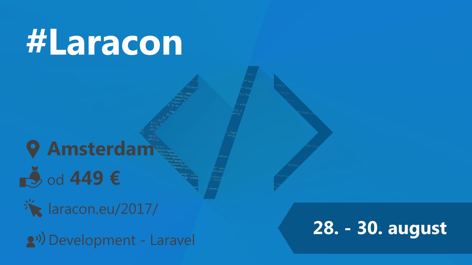 #Laracon 28.-30. 8