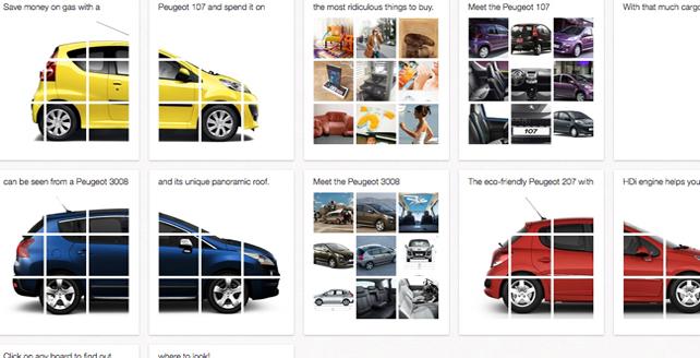 Peugeot kampaň na Pinterest-e