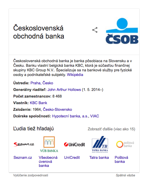 čsob knowledge panel