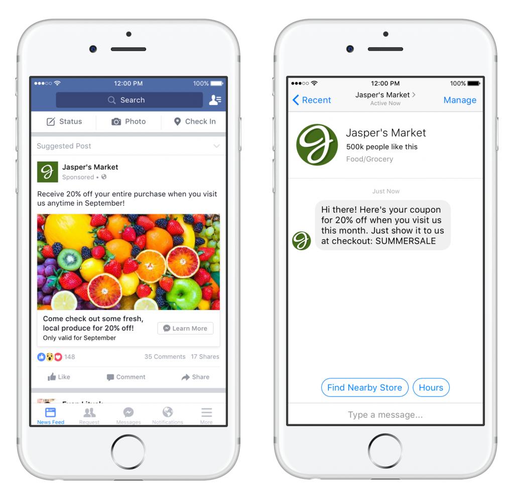 Umiestnenie reklám - Facebook Messanger